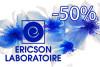 При покупке одной единицы любого вида продукции Ericson Laboratoire, мы предоставляем скидку на вторую в размере 50%.