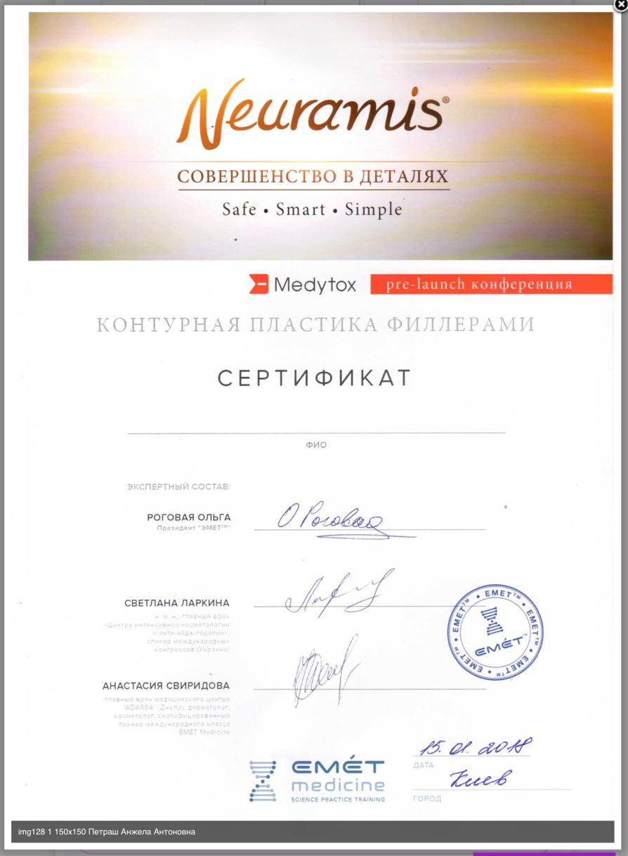 diploma Заполнение морщин, как альтернатива Ботоксу